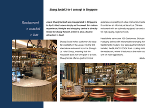 Restaurant + market + bar - Shang Social 3-in-1 concept in Singapore = modern retail