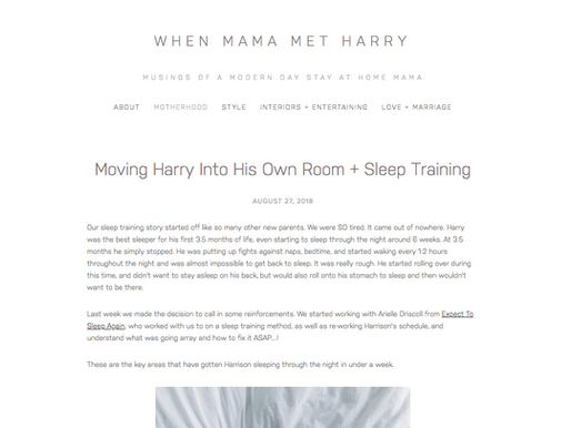 Moving Harry Into His Own Room + Sleep Training