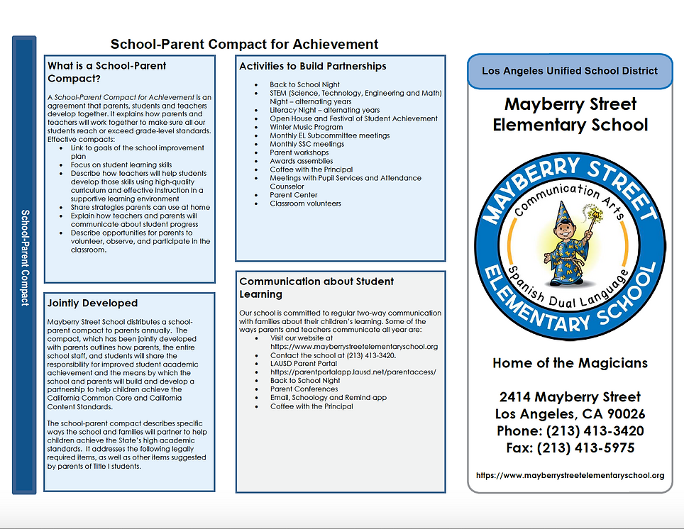 2019-2020 Mayberry ES School Parent Comp