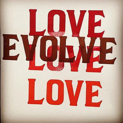 Love/Evolve Poster
