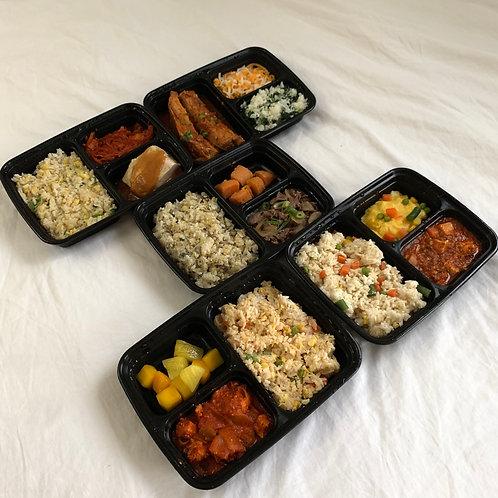 One week 5 meals package