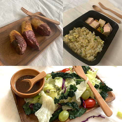 [low calories] daily package with sous vide chicken