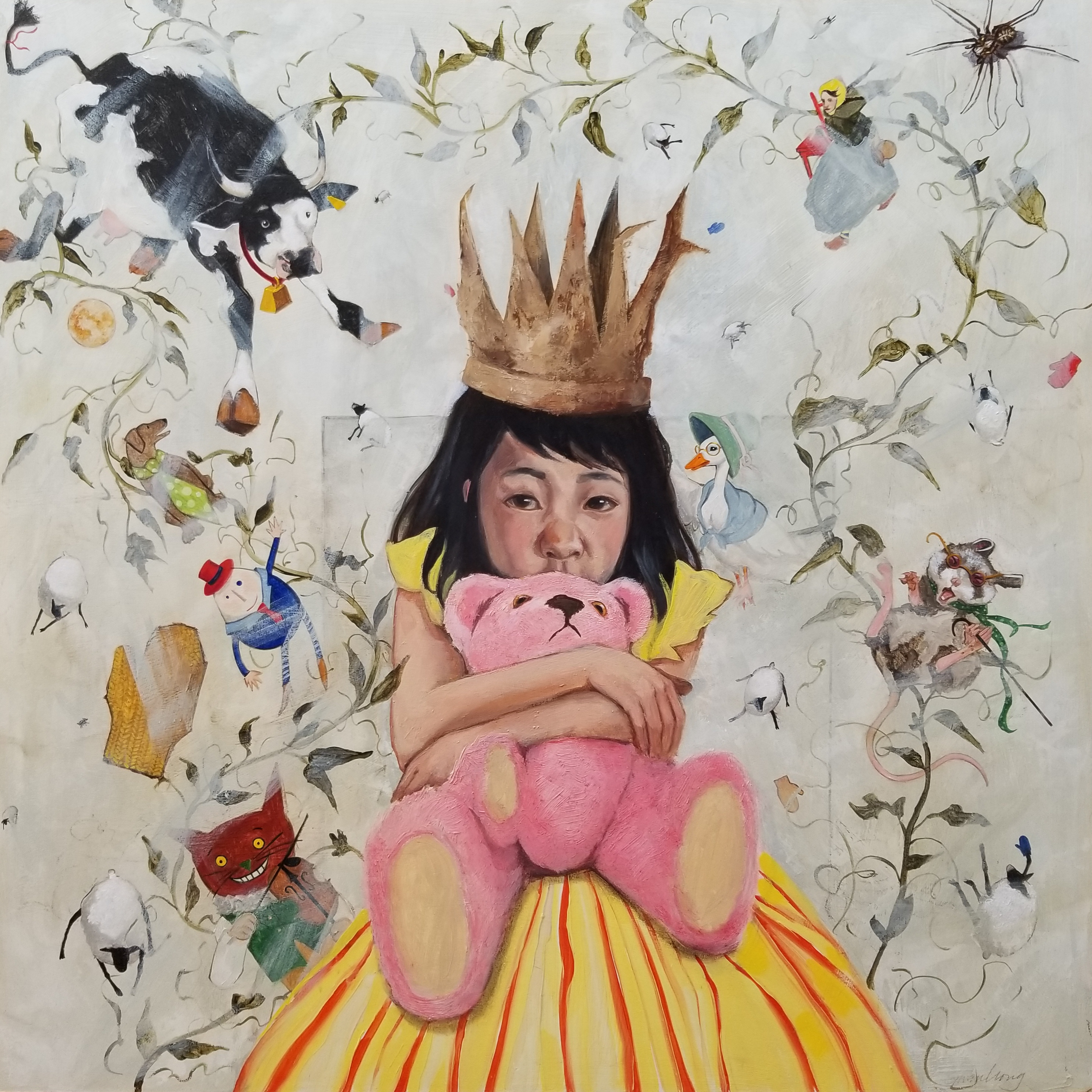 Gwen Wong,Invitation to Childhood,24x24,