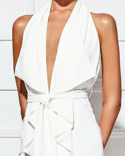 Crushing on white jumpsuits. 3 styles arriving this week
