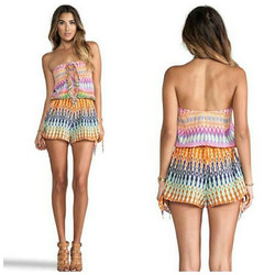 Camilla with Love_Loom Lovers - Tie front playsuit_Size 8 - 10_Only $50  to hire!