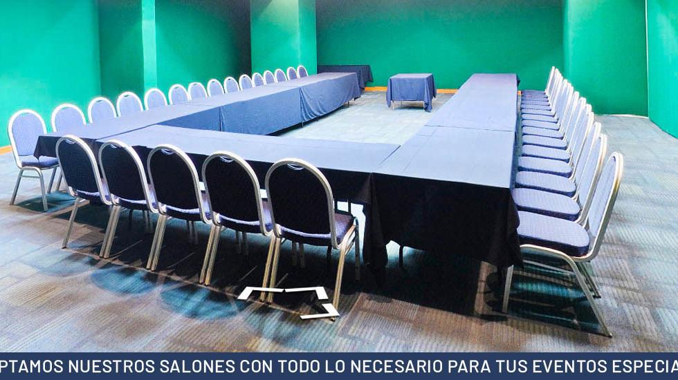 ADAPTAMOS NUESTROS SALONES CON TODO LO NECESARIO PARA TUS EVENTOS ESPECIALES