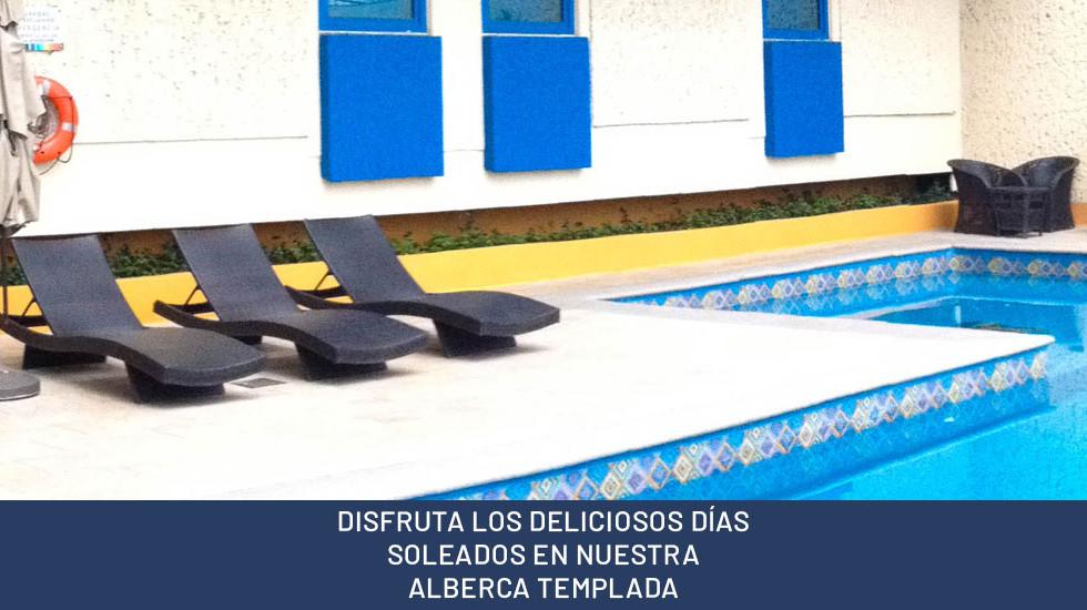 DISFRUTA LOS DELICIOSOS DÍAS SOLEADOS EN NUESTRA ALBERCA TEMPLADA