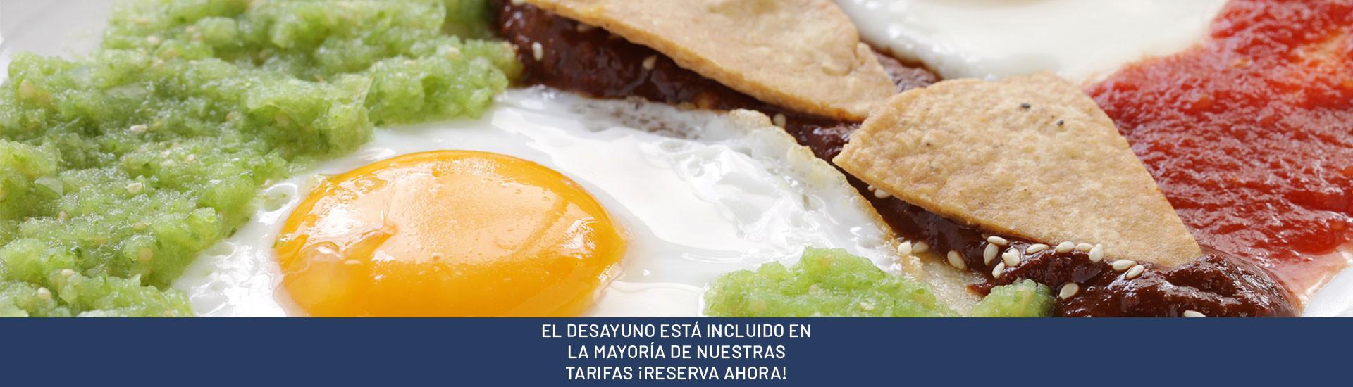 EL DESAYUNO ESTÁ INCLUIDO EN LA MAYORÍA DE NUESTRAS TARIFAS ¡RESERVA AHORA!