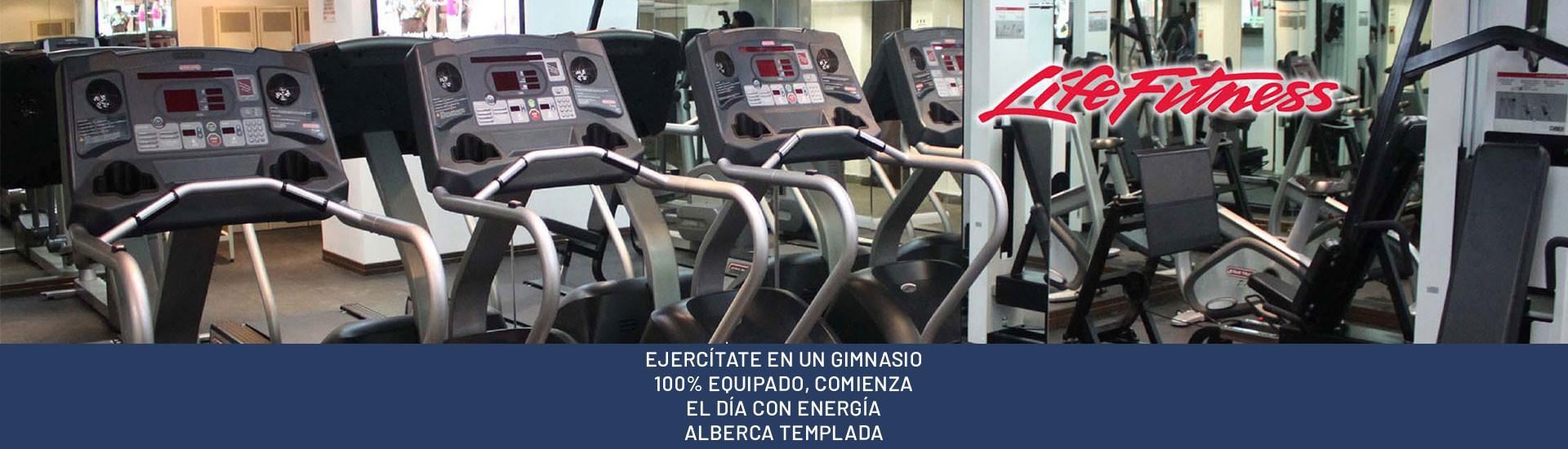 EJERCÍTATE EN UN GIMNASIO 100% EQUIPADO, COMIENZA EL DÍA CON ENERGÍA
