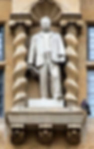 Cecil Rhodes on Oriel College near The Land of the Twelve Churches