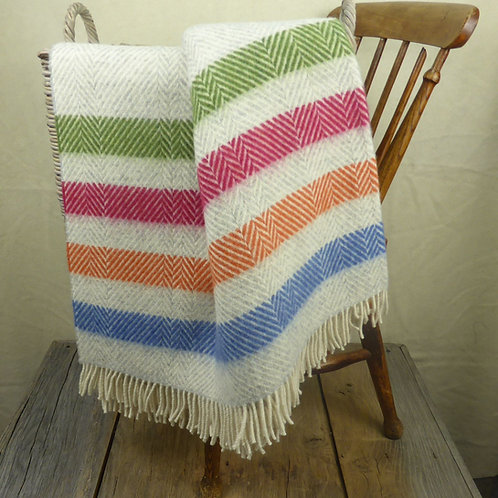 Contemporary Point Blanket Throw - Candy