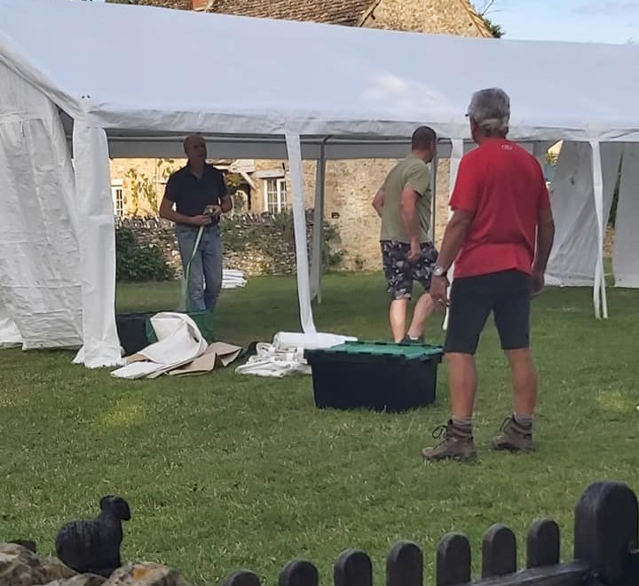 001 Up go the tents
