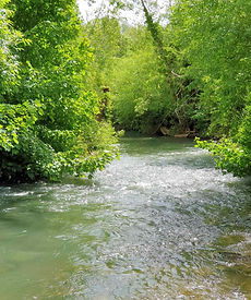 The River Windrush flows past Witney Blanket Hall