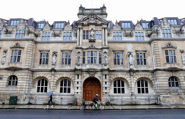 Oriel College Oxford near the Land of the Twelve Churches