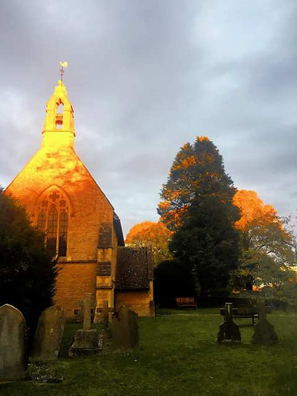Sunset in Filkins in The Land of The Twelve Churches