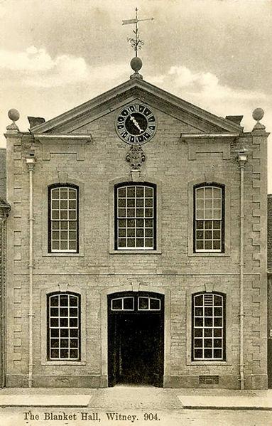 A postcard of Witney Blanket Hall