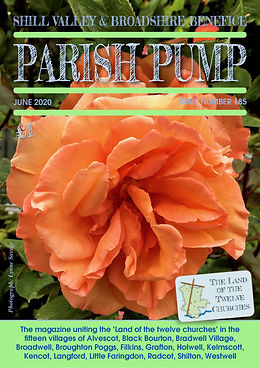 The front cover of the June 2020 issue of Parish Pump in the Land of the Twelve Churches in Shill Valley and Broadshire
