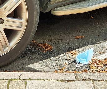 'Street litter 2020' in Woodstock, Oxfordshire