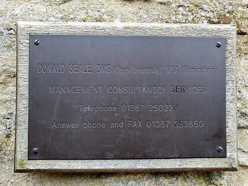 Don Seale's plaque in Filkins in the Land of the Twelve Churches