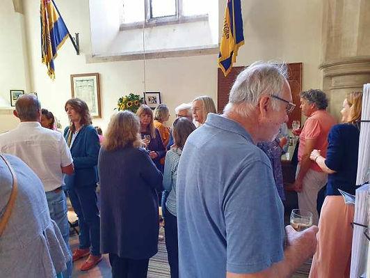 Volunteers drinks in Filkins in The Land of the Twelve Churches