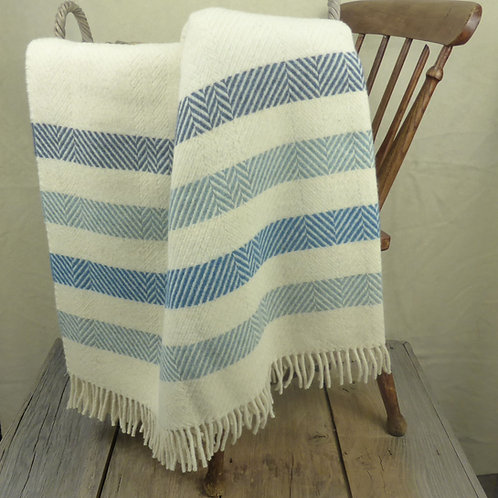 Contemporary Point Blanket Throw - Surf