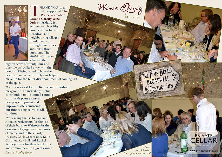 Wine tasting in Broadwell 2018 in The Land of The Twelve Churches