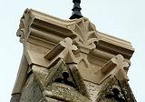 temporrary stonework on Filkins bellcote