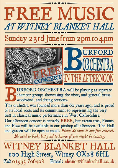 Burford Orchestra at Witney Blanket Hall