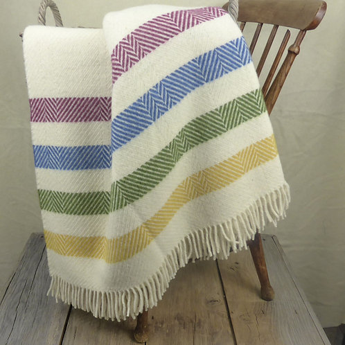 Contemporary Point Blanket Throw - Pale