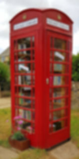 Broadwell library in a telephone box in The Land of The Twelve Churches