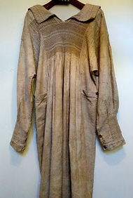 A 19th century shepherd's smock at Witney Blanket Hall