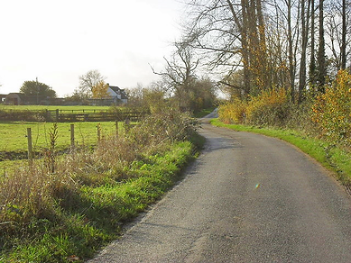 The road from Filkins to Eastleach