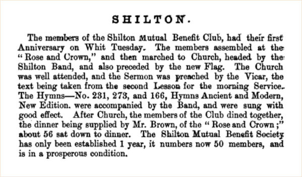 Marching in Shilton in The Land of The Twelve Churches