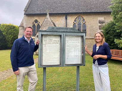 Robert Courts MP visits St Peters Church Filkins in The Land of the Twelve Churches