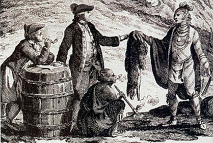 Witney Blanket Hall traders in 18th century  North America