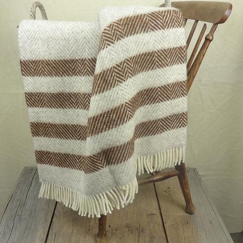 Contemporary Point Blanket Throw - Cinnamon