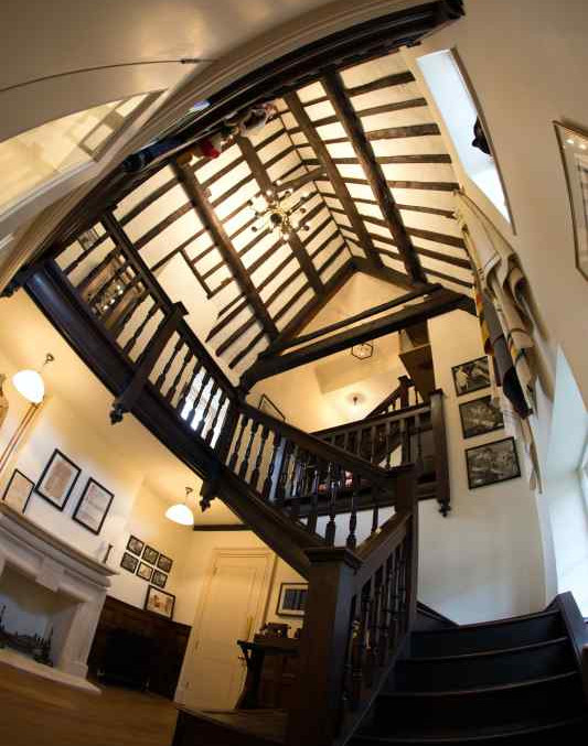 The magnificent staircase hall
