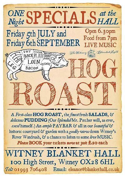 Hog Roast at Witney Blanket Hall