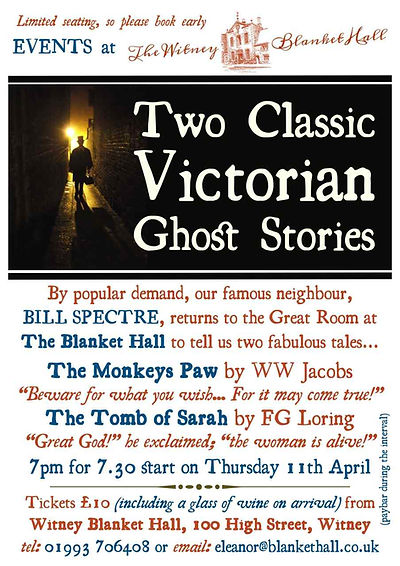 Bill Spectr tells a ghost story at Witney Blanket Hall