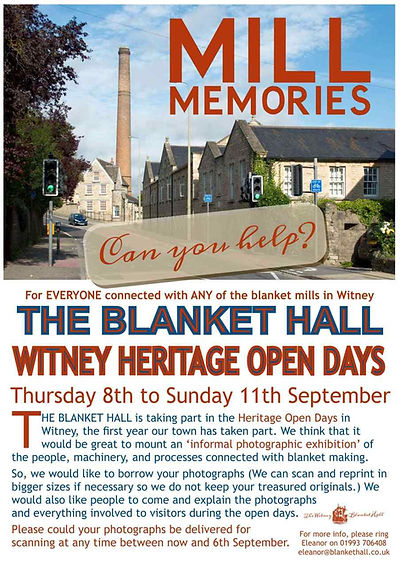 Mill Memory Heritage Open Days at Witney Blanket Hall