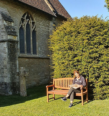 Bench at St Peter's Church Filkins