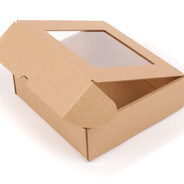 Delivery package box made from cardboard