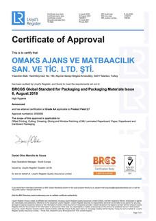 BRC PM Certificate