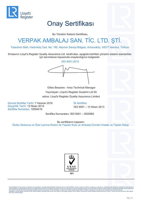 ISO 9001/2015 verpak