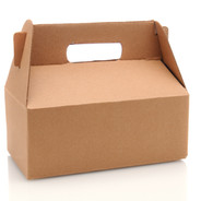 A Cardboard Carry our box with handle ov