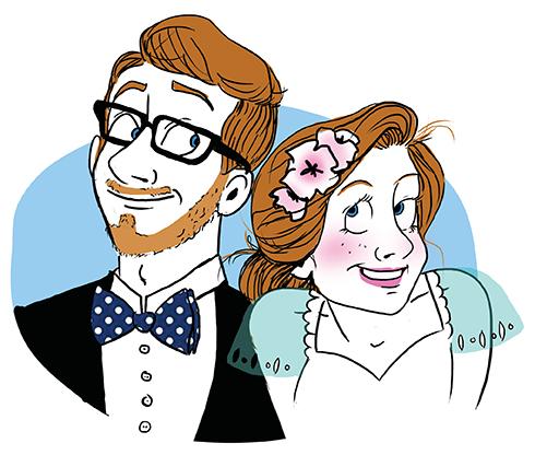 Faire-part mariage illustré