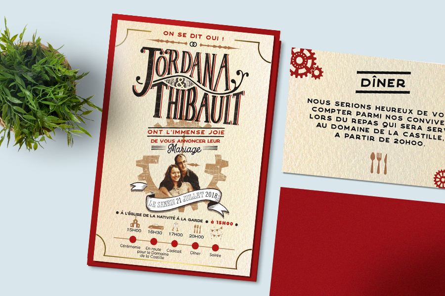 Faire part Jordana et Thibaut mock up