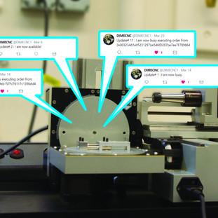 Tweeting CNC Machine