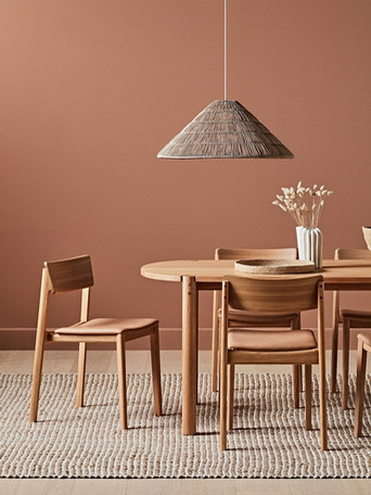cove table and poise chair