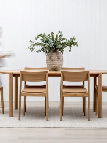 cove table & poise chair